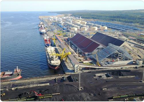 Морской торговый порт (МТП) Усть-Луга